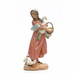 Statue per presepi: Pastorella con oche 30 cm Fontanini