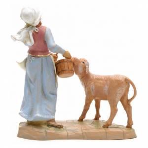 Pastorella con vitello 19 cm Fontanini s2