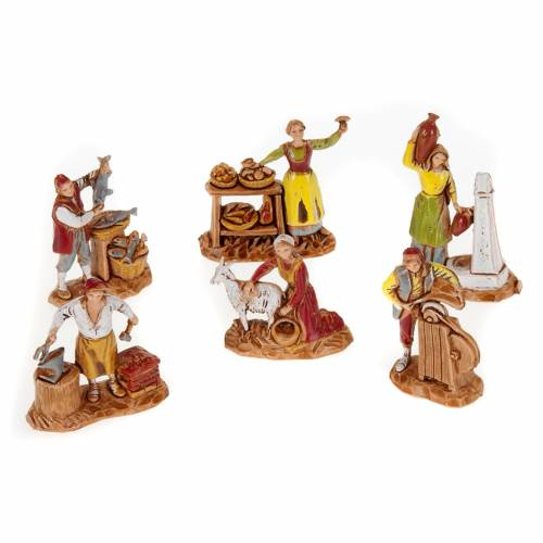 Pastores belén 6 personajes de 3 cm. Moranduzzo s1