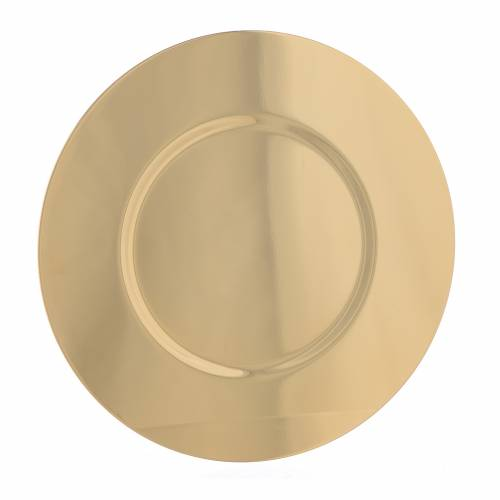 Paten in gold-plated shaped brass, 16,5cm s1