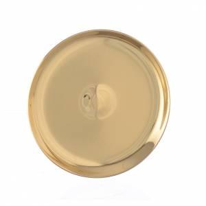 Cálices, Copones y Patenas metal: Patena minion latón diám 7 cm