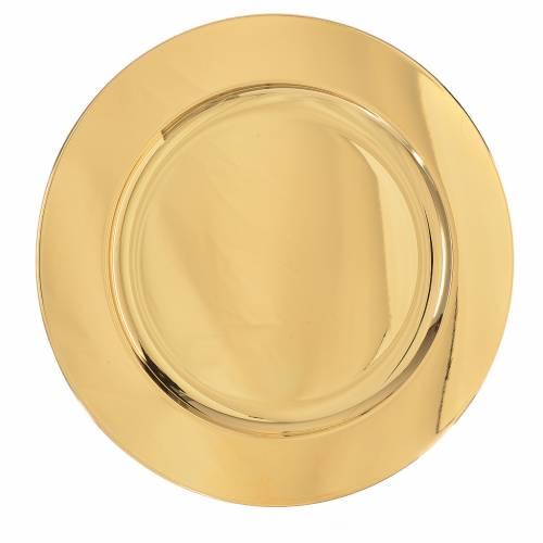Patena ottone dorato diam 23,5 cm s1