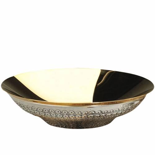 Patène  laiton ciselé décors en cercle s1