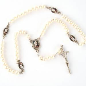 Pearled rosary with images (14 diam) s2
