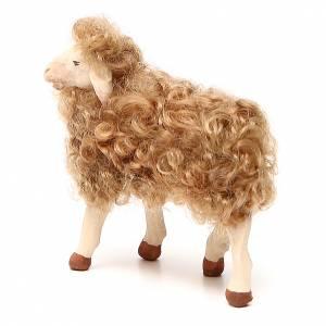 Pecora in piedi con lana 24 cm presepe Napoli s2