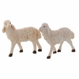 Pecore presepi plastica assortite 4 pz. 20 cm s2