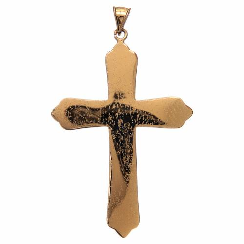 Pectoral cross in gold-plated sterling silver with 4 evangelists s2