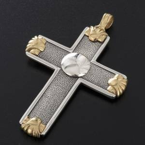Pectoral cross in sterling silver, white and gold, Year of Faith s5