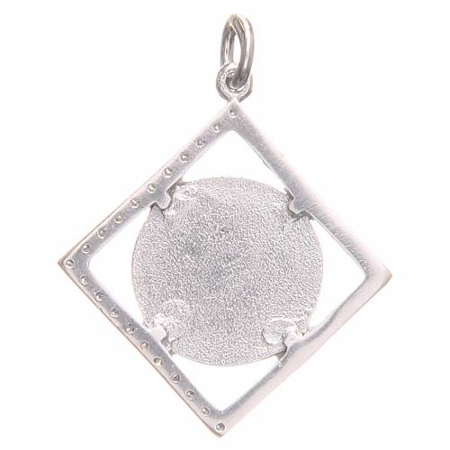 Pendant charm in 800 silver with Saint Benedict Cross 1.6x1.6cm s2