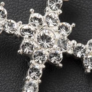 Pendant cross in silver and rhinestone 3,5 x 4,5 cm s3