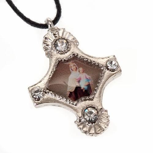 Pendant with strass cross s2