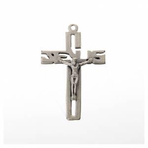 Pendenti croce metallo: Pendente crocifisso stilizzato zama argentato