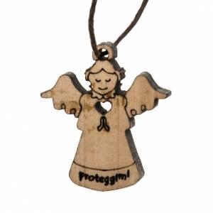 Pendentif ange en bois s1