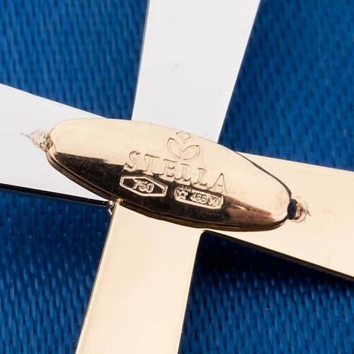 Pendentif croix or bicolore 750/00 3.10 gr s2