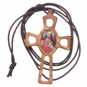Pendentif croix percée Sacré Coeur s3