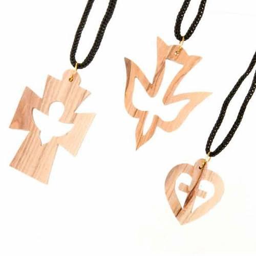Pendentif en bois différentes forme s1