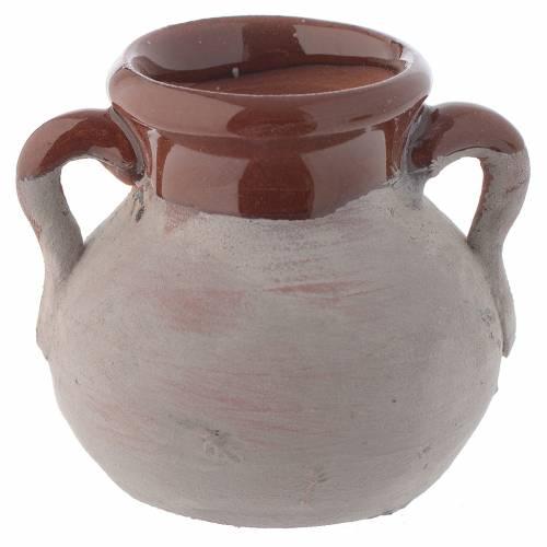 Pentola rustica ceramica h reale 4 cm presepe s1