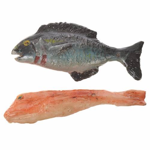 Pesce in cera per figure presepe 20-24 cm modelli assortiti s2