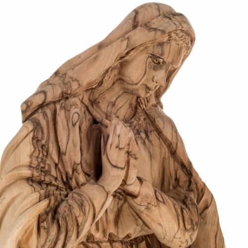 Pesebre completo en madera de olivo Betlemme con cueva 30cm s6