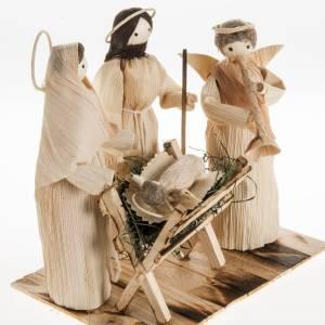 Pesebre estilizado con ángel hecho de la hoja del maiz s2