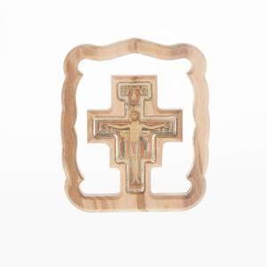 Petit carré croix St. Damien, pour table s1