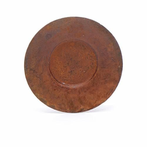 Piatto metallo presepe diam. 2 cm s1
