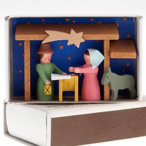Piccolo presepe in legno scatola di fiammiferi s1