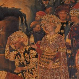Picture Adoration of the Magi, print on wood 49x68cm s3