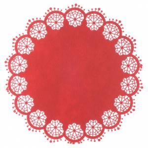 Pièce maîtresse Noël rouge diamètre 33 cm s1