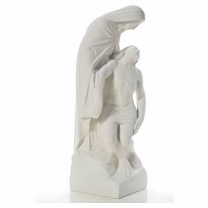 Pietà statua marmo bianco sintetico s4
