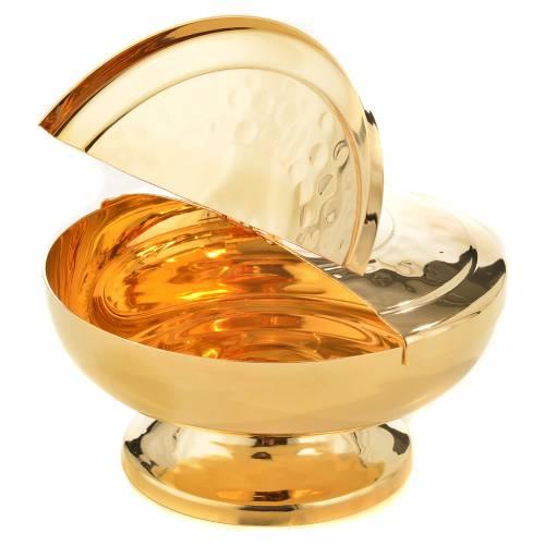 Pisside ottone dorato coperchio apribile s3