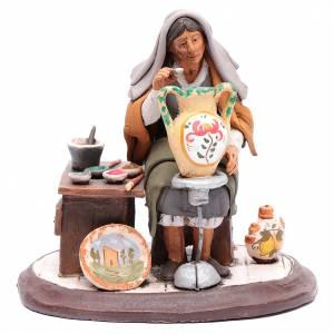 Presepe Terracotta Deruta: Pittrice per presepe 30 cm terracotta decorata Deruta
