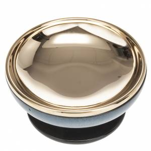 Píxide de cerámica con latón color turquesa s3