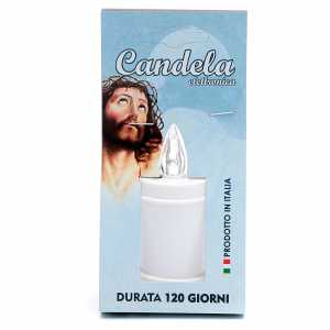 Votive candles: Plastic votive candle, white, lasting 70 days