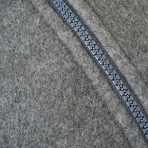 Polaire gris foncé, zip et poches s3