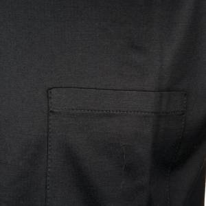 Polo colletto civile nero filo di Scozia s2