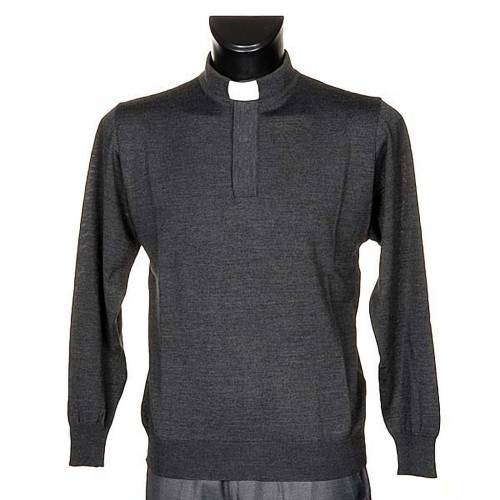 Polo clergy Gris Oscuro s1