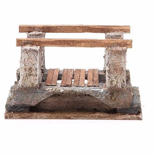 Pont crèche avec parapet 8x15x9 cm s1