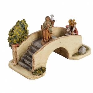 Ponts, ruisseaux, palissades pour crèche: Pont crèche Noel Fontanini 6,5 cm