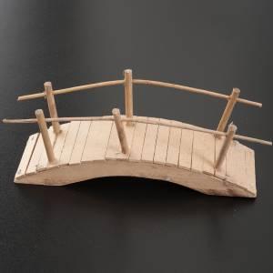 Pont en bois avec parapet décoration crèche 20x6 s2