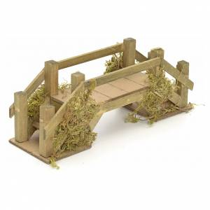 Pont en bois et mousse pour crèche 8x20x6 cm s2