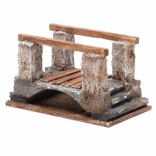 Ponte presepe con parapetto 8x15x9 cm s2
