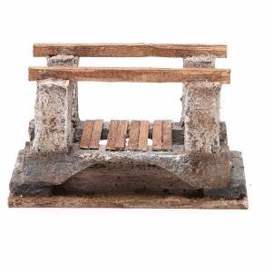 Ponte presepe, ruscelli, staccionate: Ponte presepe con parapetto 8x15x9 cm