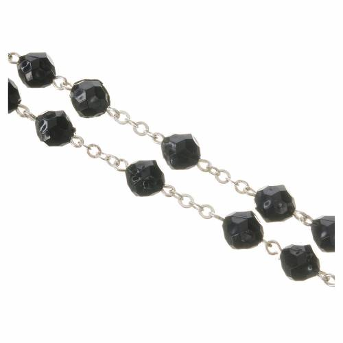 Pope Francis black rosary 7mm s3