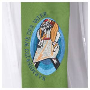 STOCK Pope Francis' Jubilee Big Stole with GERMAN machine embroided logo s7