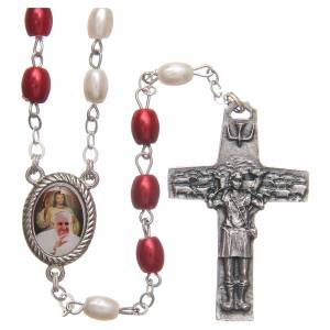 Devotional rosaries: Pope Francis rosary beads in PVC 8mm