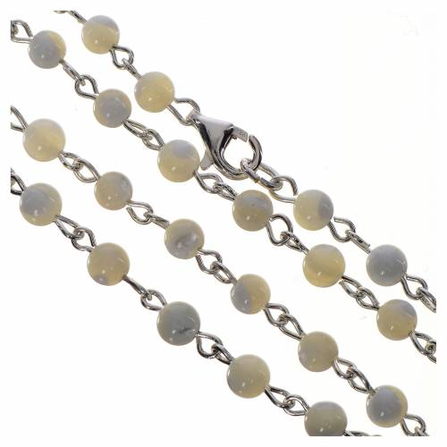 Pope Francis rosary in 800 silver and mother of pearl s4
