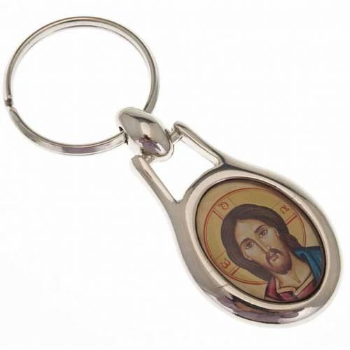Portachiavi acciaio Volto di Cristo s1