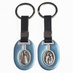 Portachiavi: Portachiavi metallo Madonna di Loreto / Sacra Famiglia con fasce