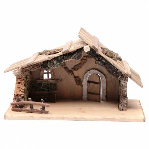 Casas, ambientaciones y tiendas: Portal vacío de madera maciza y corcho 25x45x20 cm